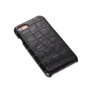 50 unids Top venta de moda PC piel de serpiente de madera tejido de cocodrilo piel de la contraportada de la PC caso delgado para iphone 7 para samsung s7 caja del teléfono