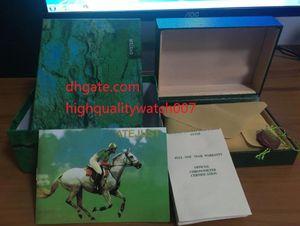 Mens For Watch Box Originale Scatola di legno verde interno esterno Donna unisex 116610 Fabbrica 116660116500 116710 118239 Scatole da orologio