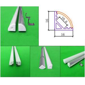 5 * 0.5m 5pcs de 0,5 m Corner 20inch llevaron perfil de aluminio para cinta llevado y tira rígida, luz del gabinete luz bar triángulo con 5050/5630 tira