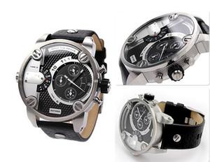 Мужчины Смотреть Top Fashion Brand Мужской Золото DZ сталь кожаный ремешок Большой циферблат водонепроницаемый часы Бизнес Sapphire Lens Часы Горячие Продажа