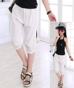 Children Pants Summer Wear Girls Cotton Linen Trousers Wide Legged Baby Pants Anti Mosquito Children Cropped Trousers Thin Hot Pants