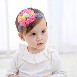 10pcs Nouveau-né Bébé Chapeaux Flowe Bandeau dentelle pour les filles bébé Enfants fleurs bébé dentelle élastique Bandeau Bow Accessoires cheveux filles Coiffe