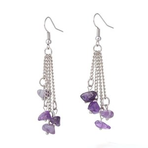 New Design Sexy chakra Earrings Yoga Jewelry Fashion Long Tassel Women Natural Stone Dangle Earrings free shipping