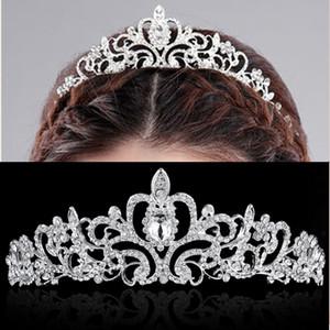 Nuovi gioielli per la festa di nozze Cristalli Diademi nuziali per le donne fidanzamento Tiara Crown Fascia per capelli Accessori Moda gioielli di lusso