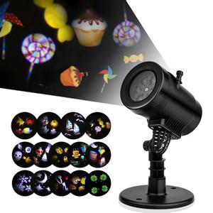 Yeni LED Projektör Işık 14 Desen Su Geçirmez Peyzaj Aydınlatma Kapalı Duvar Spot Lazer Projeksiyon Lambası Cadılar Bayramı Noel Peri Işık