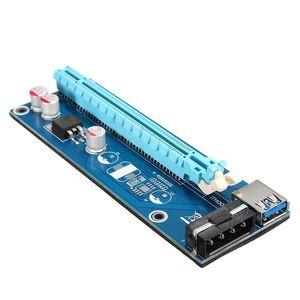 Livraison gratuite 10X USB 3.0 PCI-E 1x à 16x alimenté Extender Render Adapter Card avec câble SATA