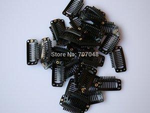 Precio al por mayor 20pieces / lot color negro 9-dientes grandes clips de pelo pelucas clip de extensión del pelo clips pinzas de pelo