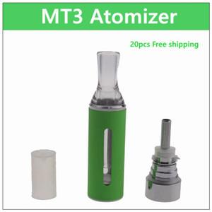 Atomizador ecig MT3 - 20 piezas. La bobina 2.4ml reemplazable el tanque reconstruible del clearomizer de la bobina del atomizador electrónico del cigarrillo para el kit de la batería mt3 del ego