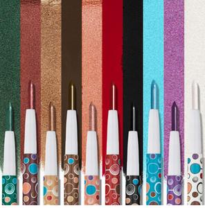 HUAMIANL haute briquet fard à paupières crayon cosmétique paillettes miroitant mat ombre à paupières eyeliner stylo maquillage eyeliner + cadeau
