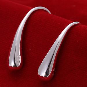 10Pairs / LotFree Verschiffen 925 Sterlingsilber überzog Art- und Weisebolzen-Ohrring-Schmucksachen für Geschenke E004