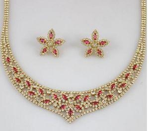 maravilloso color jadde crystal lady's set earings collar