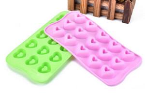 Herz-Pudding-Eis-Behälter-Kuchen-Form-flexible Silikonseifen-Form für handgemachte Seifen-Kerze Süßigkeit backformen Backformen Küchenwerkzeuge Eisformen