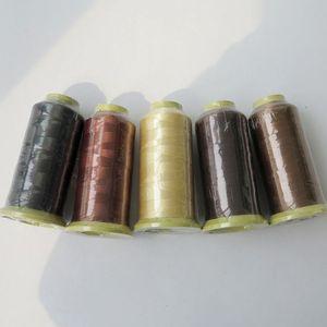 2000 m Naylon dokuma ipliği dikiş ipliği saç atkı için klip saç profesyonel saç uzantıları araçları daha renkler
