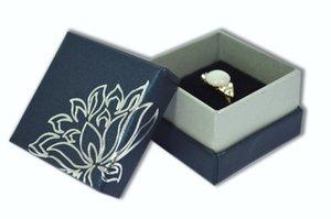 2017 Hot vente en gros 12pcs / lot boîte à bijoux d'affichage à l'anneau boîtes 5 * 5 * 3.5 cm petite boîte cadeau emballage bijou organisateur bleu ou rouge