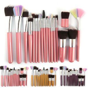 Neue 18 stücke Kosmetik Make-Up Pinsel Rouge Lidschatten Pinsel Set Kit Maange Mode Apr25 Drop Shipping Bilden Werkzeuge