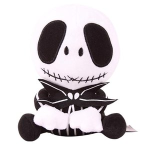 10 pollici Halloween Jack Skeleton Peluche Giocattoli Peluche EMS 2 Stile 20-25 cm Bambini Anime Nightmare Prima Giocattoli ripieni di Natale K7845 BJ