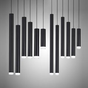 창조적 인 펜던트 조명, 현대 주방 램프 식당 바 카운터 숍 파이프 펜던트 조명 주방 조명, 실린더 알루미늄