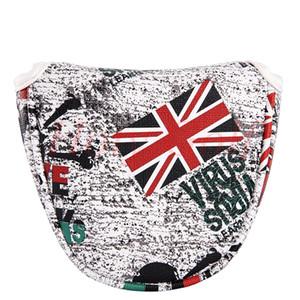 Флаг Великобритании Гольф молоток клюшки головной убор (красный и белый)