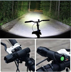Luz de la bicicleta de 3800 lúmenes 5 linterna de los modos XML-T6 LED del ciclo luz delantera zoom luces de bicicleta a prueba de agua con montaje de la antorcha