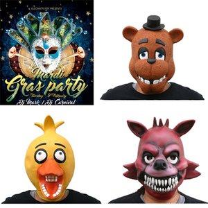 Cinq nuits à Cosplay Masques de Freddy Masques de Cosplay FNAF Cinq nuits à 4 FNAF de Freddy Foxy Chica Bonnie Freddy Latex Masque