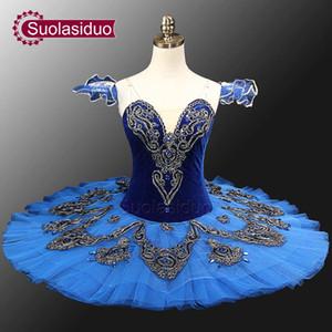 Blue Swan Lake Ballet Kostüme Rot Erwachsene Ballerina Kostüme Klassische Ballett Tutus Mädchen Professionelle Ballett Tutu SD0012