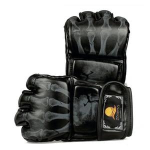 1 pares de couro pu muay thai luvas de boxe de couro metade do dedo luvas de boxe mtmtwins luvas de boxe transporte rápido