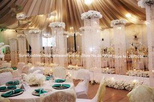 rideau en cristal acrylique pour l'étape de mariage l'arc de mariage en cristal de décoration de mandap pour les mariages, partie, événement