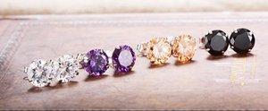 Heiße Selling 4mm Kristallohrstecker für Frauen-Mädchen arbeiten Süßigkeit Strass S925 Silber-Ohrringe Bolzen-Hochzeit Geschenk