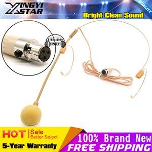 Couleur Beige Mini XLR 3 Broches TA3F 3Pin Connecteur Headwook Earhook Casque Microphone Mic Pour Sans Fil Pochette Transmetteur