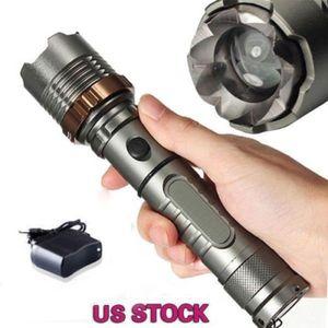 3800LM Cree XML T6 Torcia LED tattica torcia ricaricabile + 18650 batteria + caricabatterie diretto