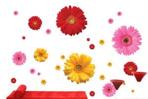 10 pz / foglio 3d stereo daisy fiori adesivi murali armadio cucina frigorifero decorazione adesivi murali decorazione della casa crisantemo poster da parete