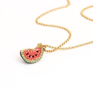 حار بيع الأوروبية قلادة قلادة العصير Watermelon14K الذهب الحقيقي جودة عالية أزياء المرأة مجوهرات تصميم مذهل