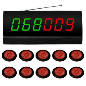 беспроводная система индикации на 10 номеров. для ресторана,кафе .10 шт красный болгарский и 1 дисплее ПК