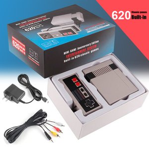 NES Game Consoles With Classic Games Mini TV 620 Video Games Handheld Retro Player AV Out For PAL NTSC With Retail Box