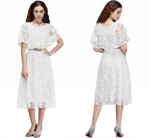 빈티지 흰색 전체 레이스의 어머니와 신부 드레스의 랩 티셔스 새틴 길이의 어머니 드레스 특별한 경우 리얼 포토 CPS668