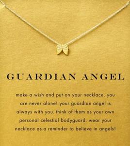 Colar Dogeared com asa de anjo (anjo da guarda) prata e cor de ouro, sem desbotar, frete grátis e alta qualidade.