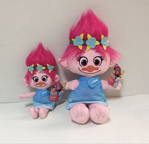 Gratuit EMS 9,2 pouces Trolls Branch Poppy poupées en peluche jouets 23cm 2 enfants de style belle bande dessinée Poppy Biggie poupées en peluche B001
