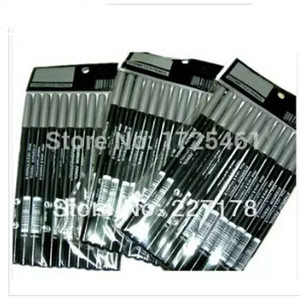 Atacado vendendo olho / lábio lápis lápis 1,5g preto 100 pcs / lote