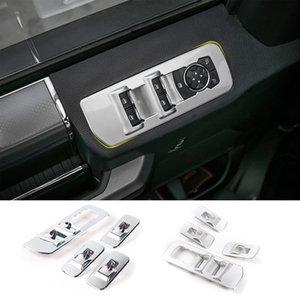 ABS Interior del coche Accesorios de Windows Panel de Interruptor de Elevación Decoración del Marco Cubiertas Ajuste del ajuste para Ford F150 2015-2017