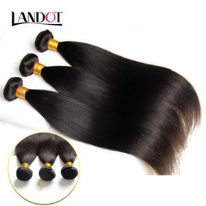 Brasiliano malese brasiliano peruviano cambogiano capelli lisci tessuto 7A grado brasiliano estensioni dei capelli umani doppia trama colore naturale