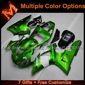 23colors + 8Gifts GREEN cowl per moto Yamaha YZF-R1 1998-1999 YZFR1 98 99 ABS Carenatura in plastica