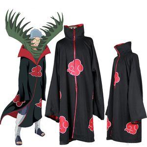 Japanese Anime Akatsuki Itachi Uchiha Cosplay Costume COS Naruto Deluxe Men's Cloak Trench For Halloween Chrismas