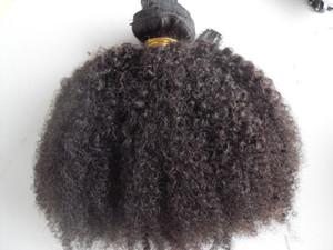l'arrivée de nouveaux clips dans brazilian extensions de cheveux de trame de cheveux bouclés afro crépus non transformés bouclés couleur noir naturel extensions humaines peuvent être teints