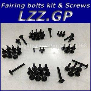 Tornillos kit de tornillos de carenado para Kawasaki NINJA ZX 12R 2000 2001 2002 2003 2004 ZX12R 00 01 02 03 04 Tornillos de carenado ZX-12R Plata negra