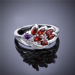 Venda direta da fábrica de flores no atacado vermelho pedra preciosa anel de prata 925 TYSR555 online para a venda anéis de prata esterlina alto grau