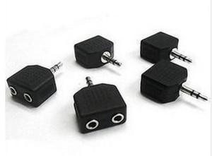 Siyah Renk 3.5mm Jack 1 ila 2 Çift Kulaklık Kulaklık Y MP3 Telefonu için Splitter Kablo Kordon Adaptörü Fiş