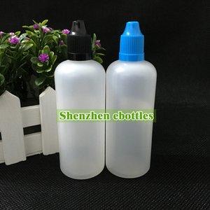 Gran calidad del envío libre Botella suave Estilo PE aguja 100ML Botellas plásticas del cuentagotas a prueba de niños Caps LDPE Liquid E botella vacía
