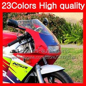 100% nuevo parabrisas de la motocicleta para HONDA NSR250R MC28 PGM4 NSR 250R NSR250 R 250 R 94 95 96 97 98 99 Chrome negro humo claro parabrisas