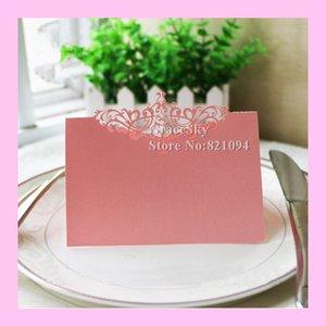 50PCS Trasporto libero Taglio Laser Stile Eroupean Crown Paper Place Name Seat Invito Cards per il Compleanno di Nozze X'mas Party Table Decor.