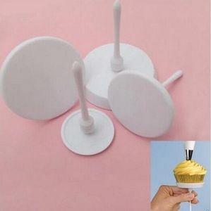 Nuevo llega 1Set / 4PCS Nuevo Sugarcraft Cupcake Cake Stand Icing Cream Flower c Set Tool Rdyo